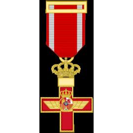 Cruz al merito Aeronautico distintivo rojo