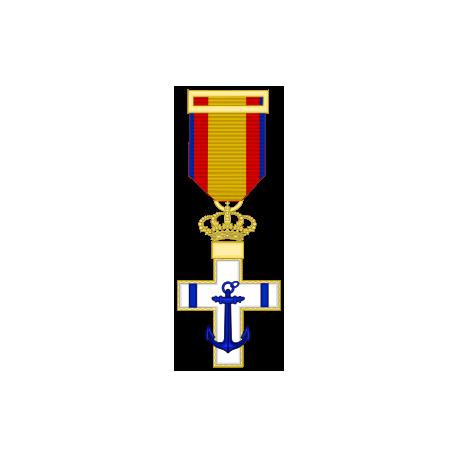 Cruz al merito Naval distintivo amarillo