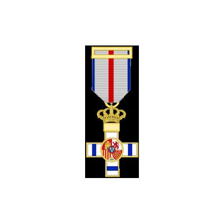 Cruz al merito militar distintivo azul