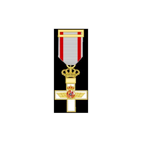 Cruz al merito Aeronautico distintivo blanco