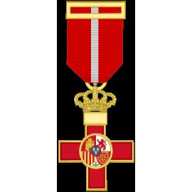 Cruz al merito militar distintivo Rojo