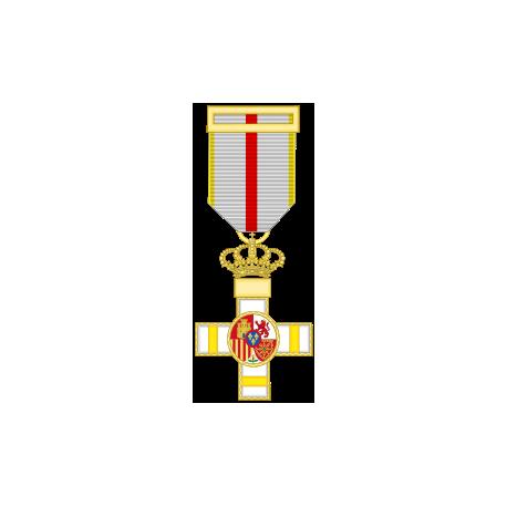 Cruz al merito militar distintivo amarillo