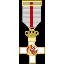 Cruz al merito militar distintivo blanco