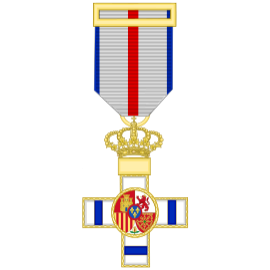 Cruz al merito militar distintivo azul (mediana)