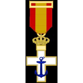 Cruz al merito Naval distintivo blanco