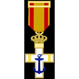 Cruz al merito Naval distintivo amarillo (mediana)