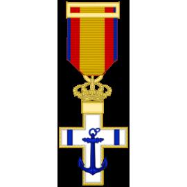 Cruz al merito Naval distintivo azul (mediana)