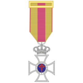 Medalla constancia plata miniatura