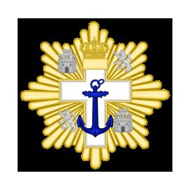 Gran cruz al merito Naval distintivo blanco