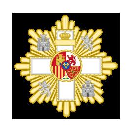 Gran cruz al merito Militar distintivo blanco